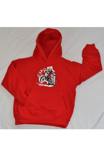 Red graphics hoodie2